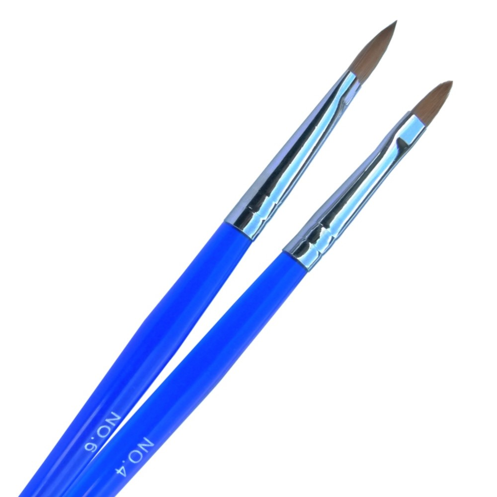 gs nails acryl gel pinsel gr 4 echthaar katzenzunge naildesign blau ebay. Black Bedroom Furniture Sets. Home Design Ideas