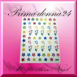 Nail Tattoos 077 Tattoo Sticker Schmetterlinge Blüten