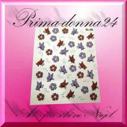 Nail Tattoos 083 Tattoo Sticker Schmetterlinge Blüten