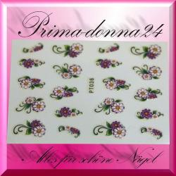Nail Tattoos 039 Tattoo Sticker Blüten