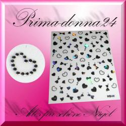 Nail Tattoos 024 Tattoo Sticker Metall Schimmernd