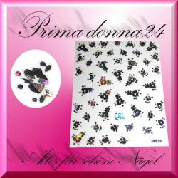 Nail Tattoos 023 Tattoo Sticker Metall Schimmernd