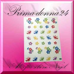 Nail Tattoos 076 Tattoo Sticker Schmetterlinge Blüten