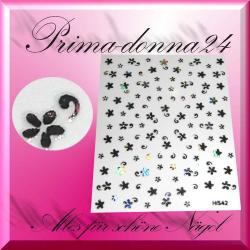 Nail Tattoos 025 Tattoo Sticker Metall Schimmernd