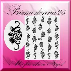 Nail Tattoos 006 Tattoo Sticker Water Floral