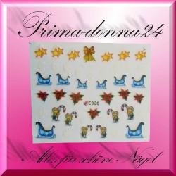 Nail Tattoos 070 Tattoo Sticker Weihnachten Winter