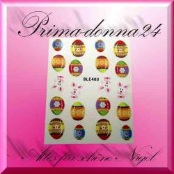 Nail Tattoos 072 Sticker Water Ostern Hase Eier